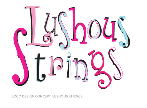 Logo Design Concept for Lushous Strings