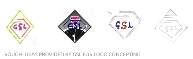 Rough concept sketches for GSL Logo
