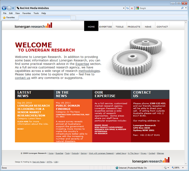 Lonergan Research Website Home Screen