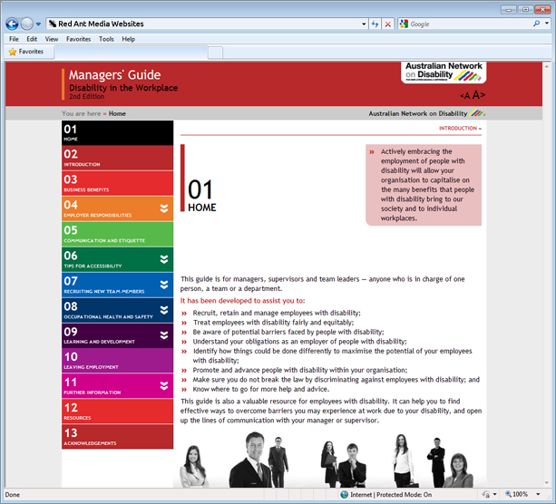 Website Design for Managers Guide Disability In The Workplace Home