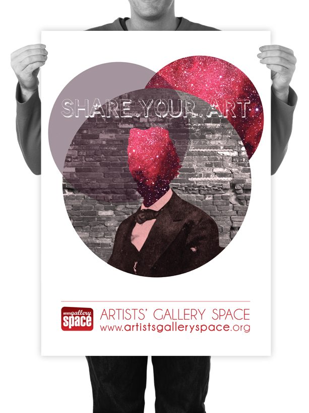 Poster Design for Artists' Gallery Space