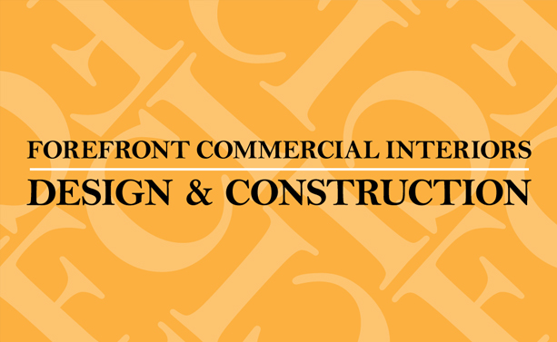 Graphic Design for Forefront Commercial Interiors Business Card Back