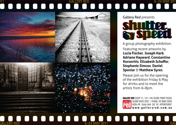 Graphic Design for Gallery Red ShutterSpeed Invite 2