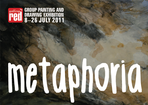Graphic Design for  Gallery Red Metaphoria Invite