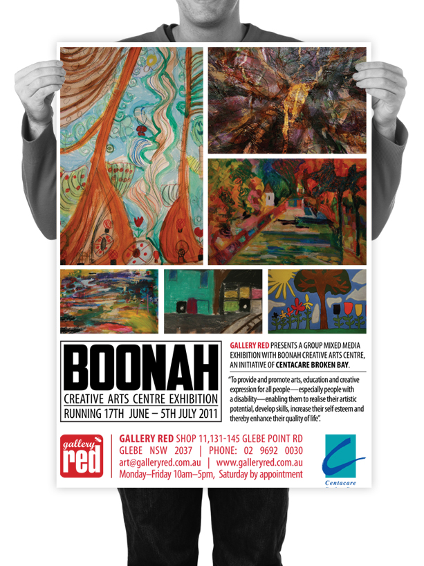 Poster Design for Gallery Red Boonah