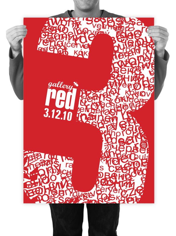 Poster Design for Gallery Red XMas