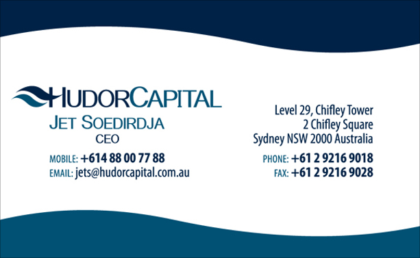 Graphic Design for Hudor Capital Business Card Front
