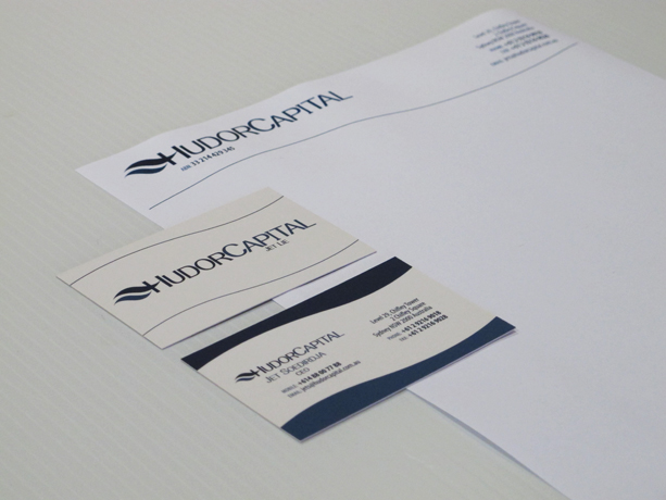 Graphic Design for Hudor Capital Business Card and Letterhead