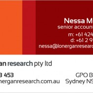 Graphic Design For Lonergan Research Business Card Back