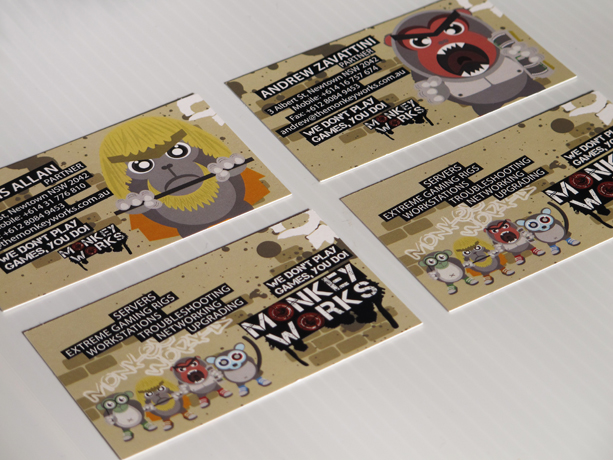 Graphic Design for Monkey Works Business Card