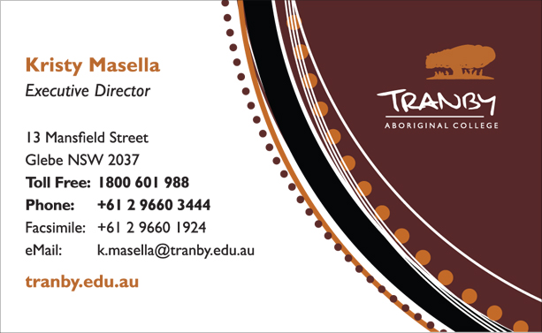 Graphic Design for Tranby Business Card Front
