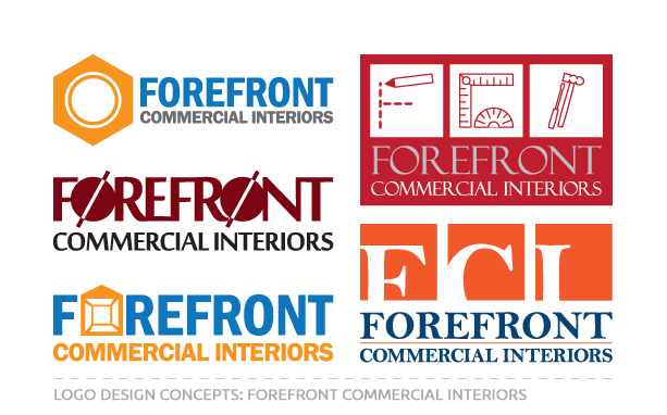 Logo Concepts for Forefront Commercial Interiors