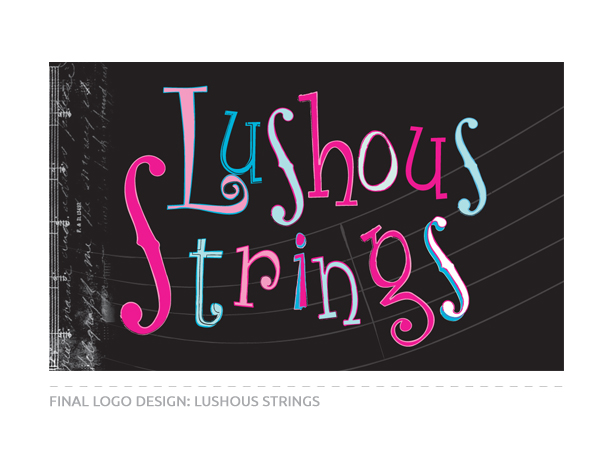 Final Logo Design for Lushous Strings
