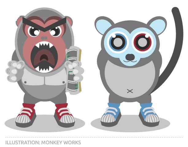 Illustration for Monkey Works