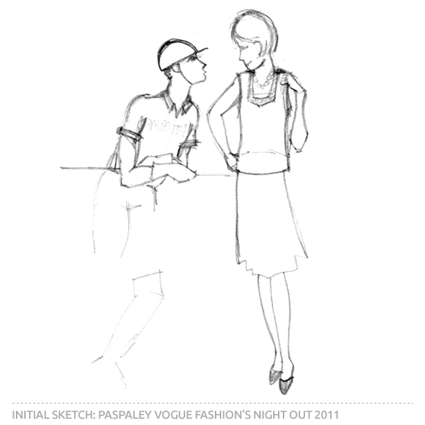 Paspaley Vogue Fashion's Night Out 2011 Initial Sketch
