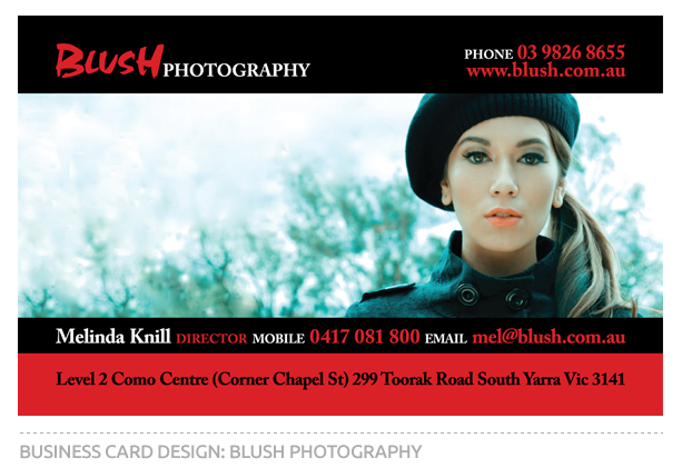 Blush Photography Business Card Design
