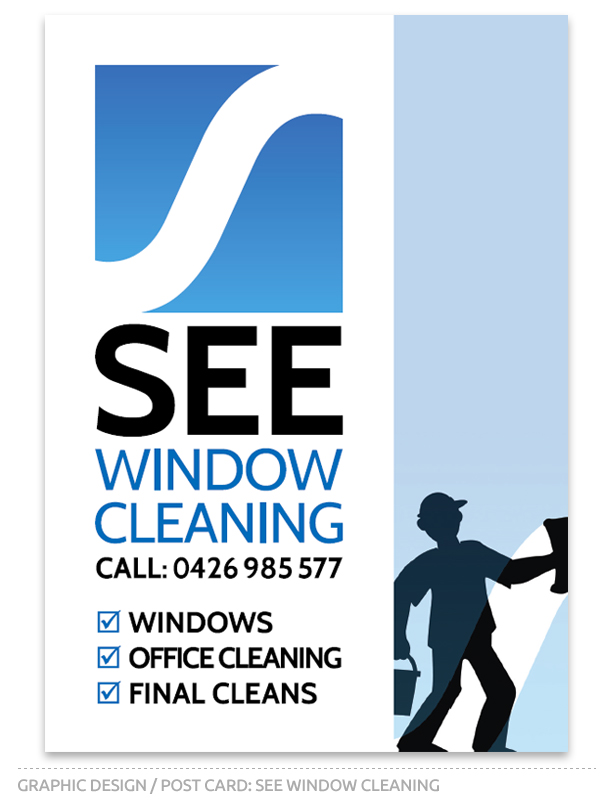 See Window Cleaning Postcard design front