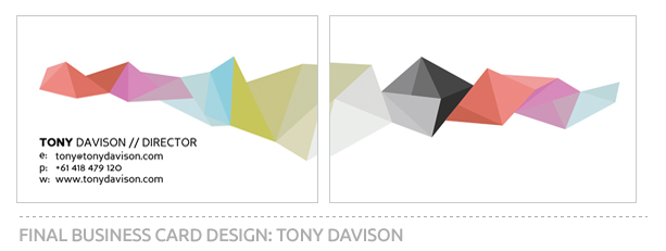 Business Card Design For Tony Davison